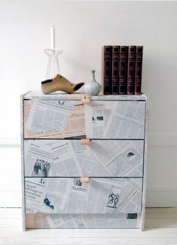 newspaper-decoupage