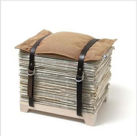 newspaper-stool