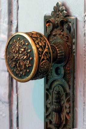 clean vintage door knob